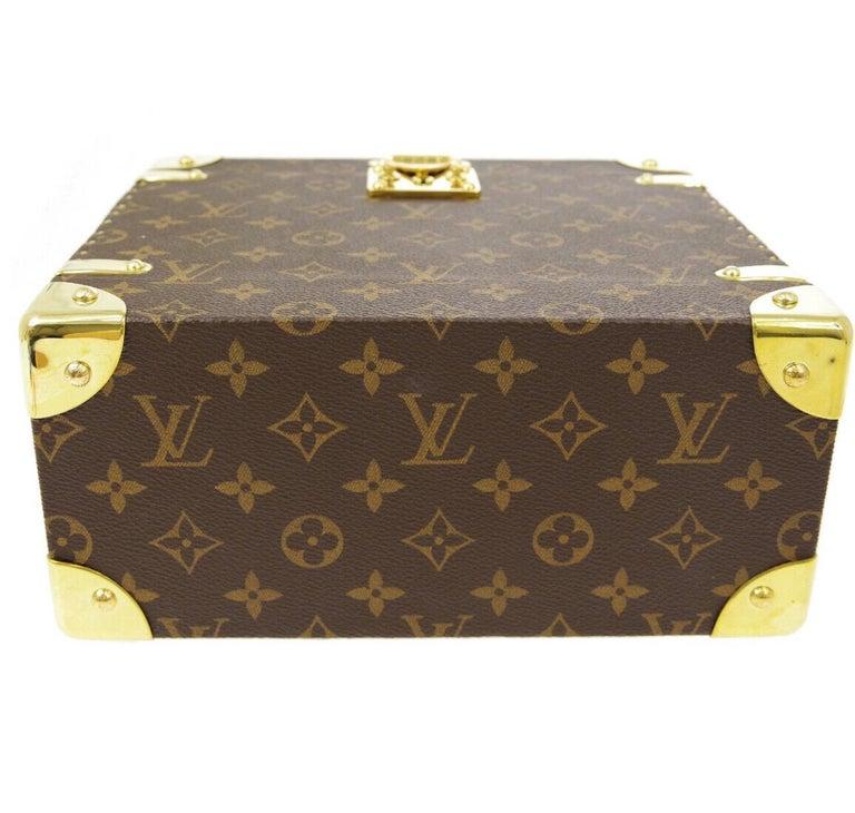 Louis Vuitton Monogram Men's Women's Vanity Perfume Cologne Travel Trunk Case For Sale 2
