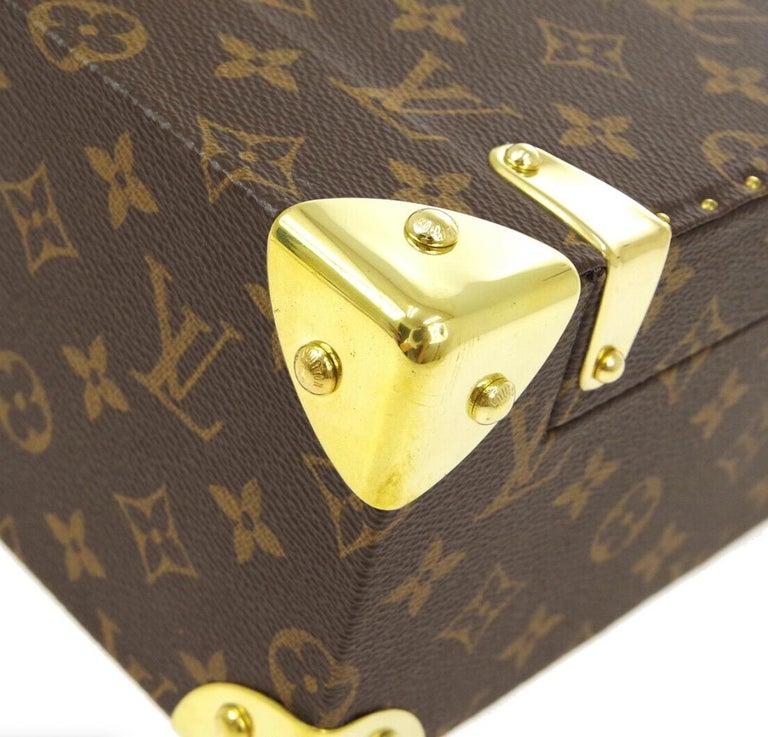 Louis Vuitton Monogram Men's Women's Vanity Perfume Cologne Travel Trunk Case For Sale 3