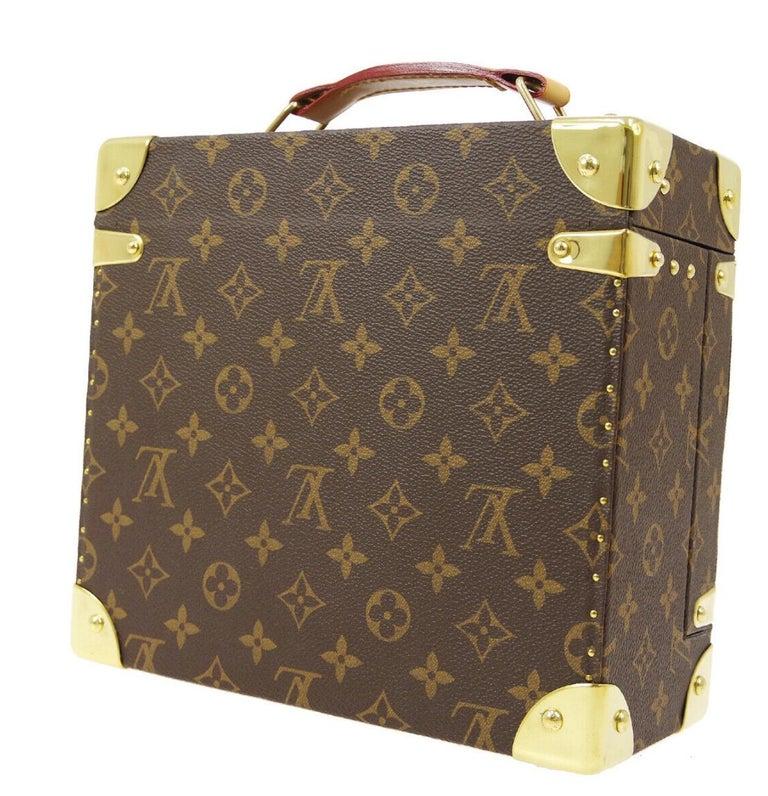 Louis Vuitton Monogram Men's Women's Vanity Perfume Cologne Travel Trunk Case For Sale 4