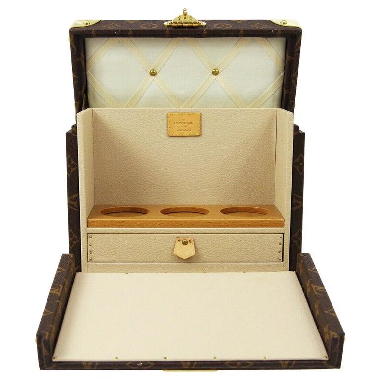 Louis Vuitton Monogram Men's Women's Vanity Perfume Cologne Travel Trunk Case For Sale