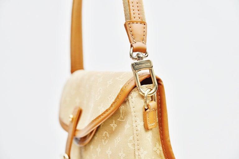 Louis Vuitton Monogram Mini Lin Marjorie Beige Shoulder Bag For Sale 6