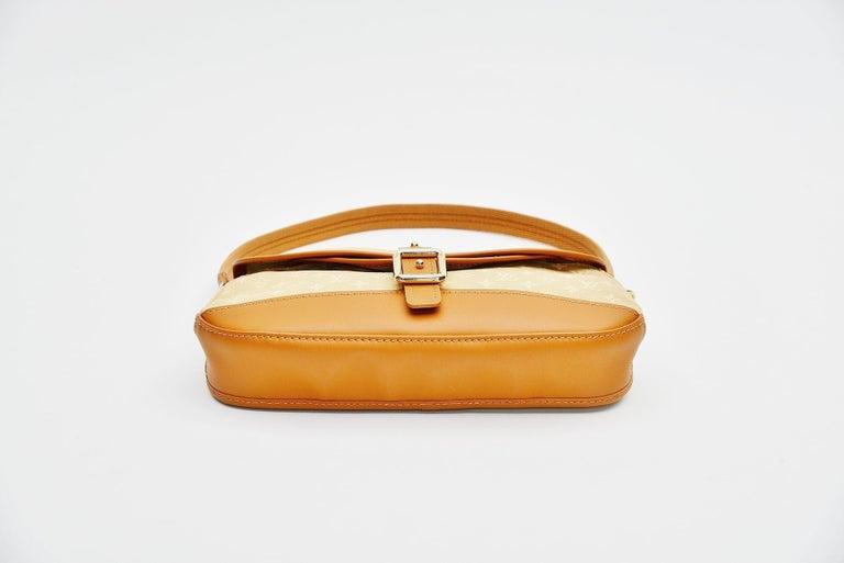Women's Louis Vuitton Monogram Mini Lin Marjorie Beige Shoulder Bag For Sale
