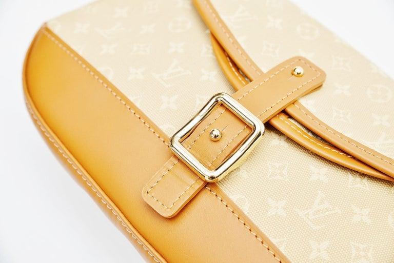 Louis Vuitton Monogram Mini Lin Marjorie Beige Shoulder Bag For Sale 1