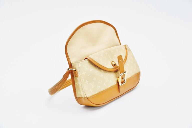 Louis Vuitton Monogram Mini Lin Marjorie Beige Shoulder Bag For Sale 2