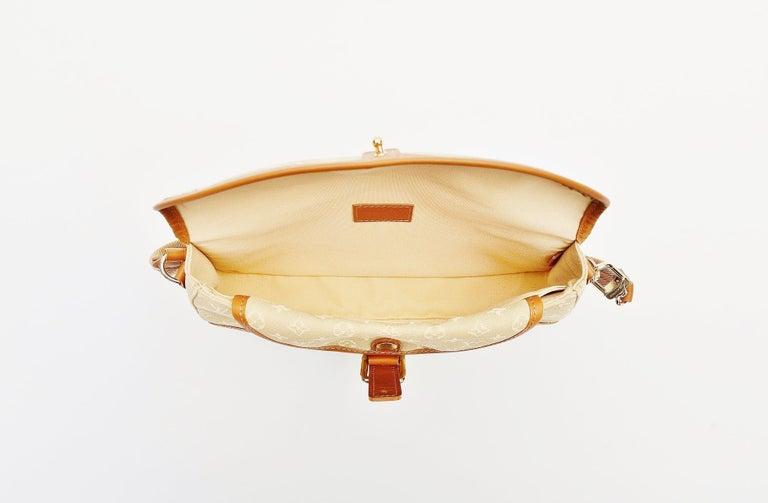 Louis Vuitton Monogram Mini Lin Marjorie Beige Shoulder Bag For Sale 3