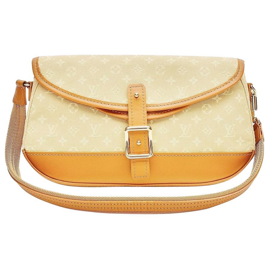 Louis Vuitton Monogram Mini Lin Marjorie Beige Shoulder Bag