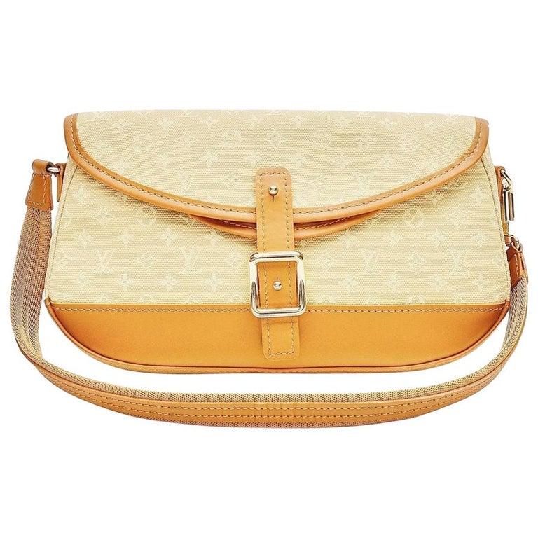 Louis Vuitton Monogram Mini Lin Marjorie Beige Shoulder Bag For Sale
