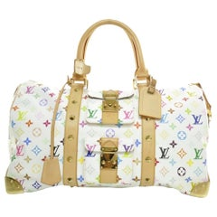 LOUIS VUITTON Monogram Multicolor Keepall 45 White unisex $5000
