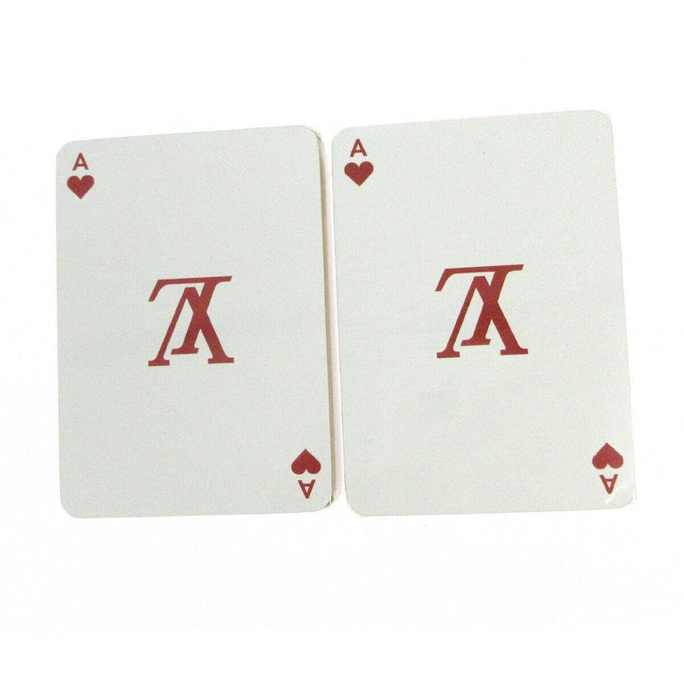 Louis Vuitton Monogram Multicolor White Black Novelty Card Deck of Cards in Box  Measures 2.5