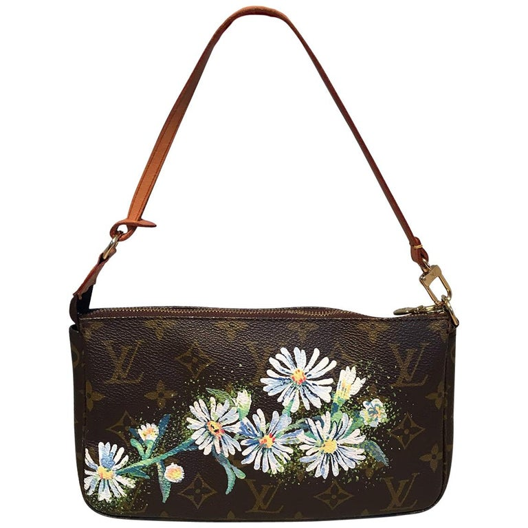 Louis Vuitton Monogram Painted Daisies Pochette Accessoires Accessories Pouch For Sale