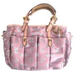 LOUIS VUITTON Monogram Pastel Glitter Cabas Tote Bag Pink