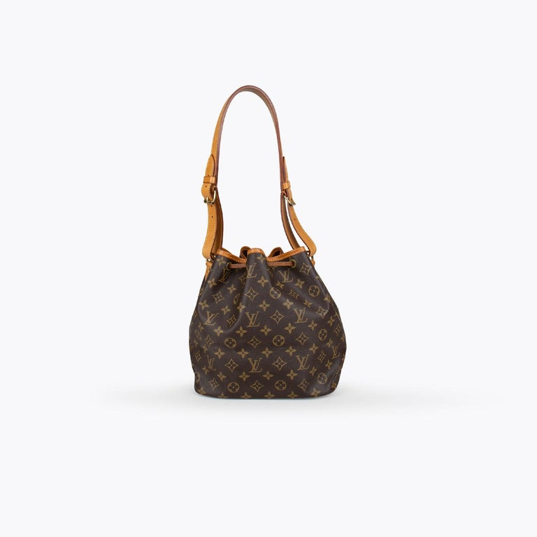 Black Louis Vuitton Monogram Petit Noé Bag For Sale