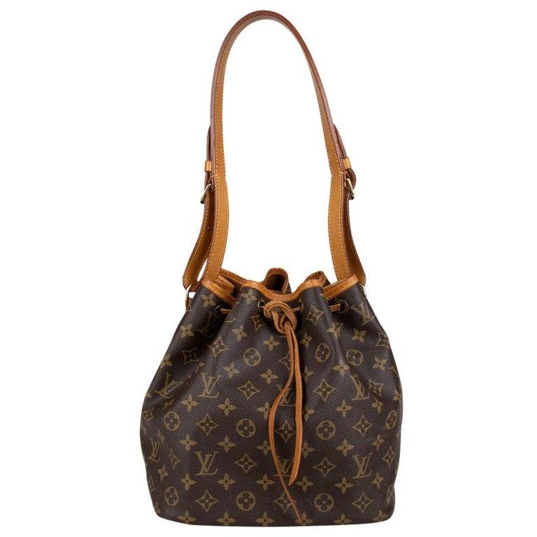 Louis Vuitton Monogram Petit Noé Bag For Sale