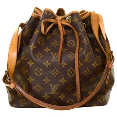 Louis Vuitton Monogram Petit Noe Drawstring Bucket Bag