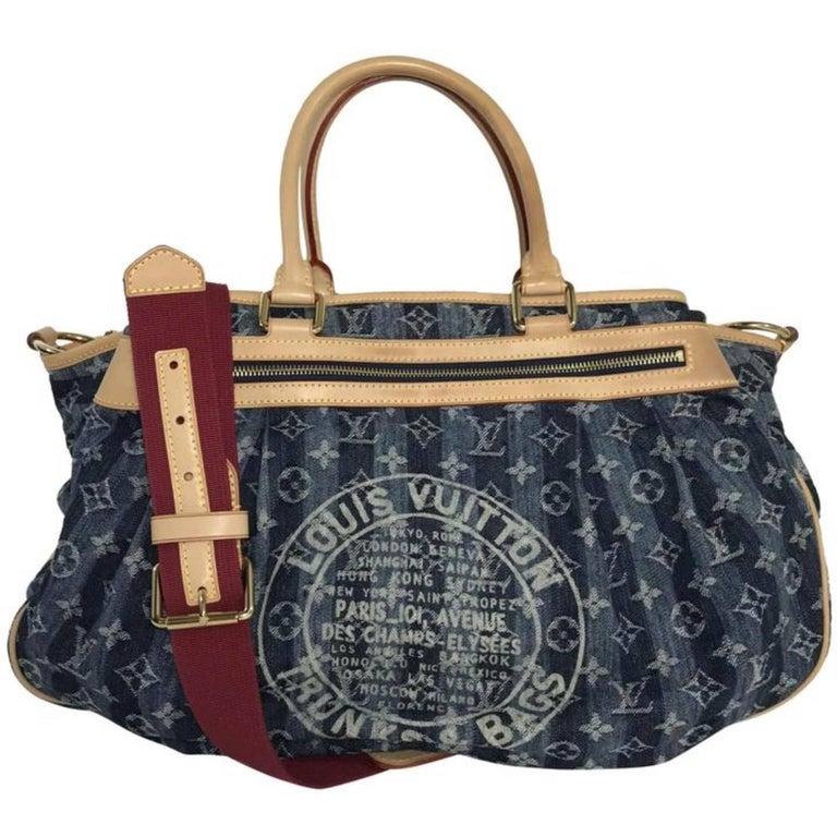 Louis Vuitton Monogram Porte Epaule Cruise Cabas Raye