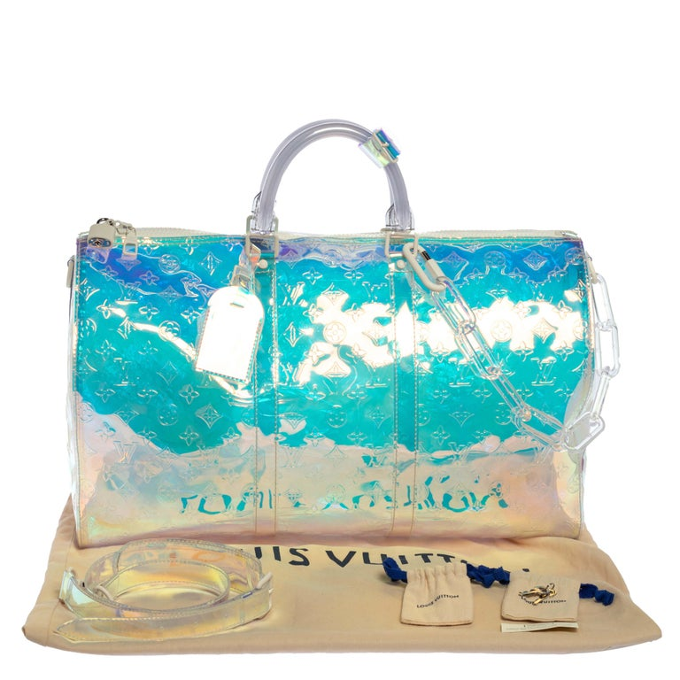 Louis Vuitton Monogram Prism Keepall Bandouliere 50 Bag 10
