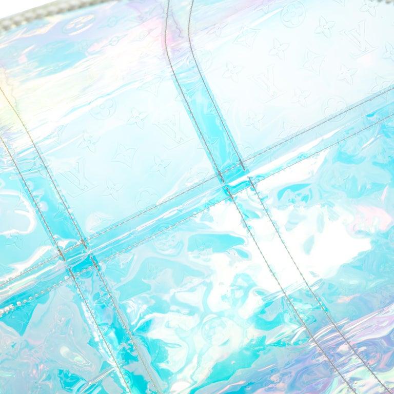Louis Vuitton Monogram Prism Keepall Bandouliere 50 Bag In Good Condition In Dubai, Al Qouz 2