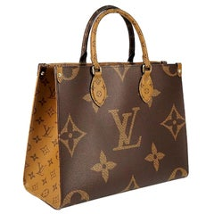 LOUIS VUITTON Monogram Reverse Onthego MM Womens tote bag M45321 brown x beige