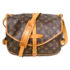 Louis Vuitton Monogram Saumur 30 Double Saddle Messenger Crossbody Bag