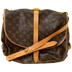 Louis Vuitton Monogram Saumur 35 Double Saddle Messenger Bag