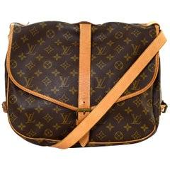 Louis Vuitton Monogram Saumur 35 Double Saddle Messenger Crossbody Bag