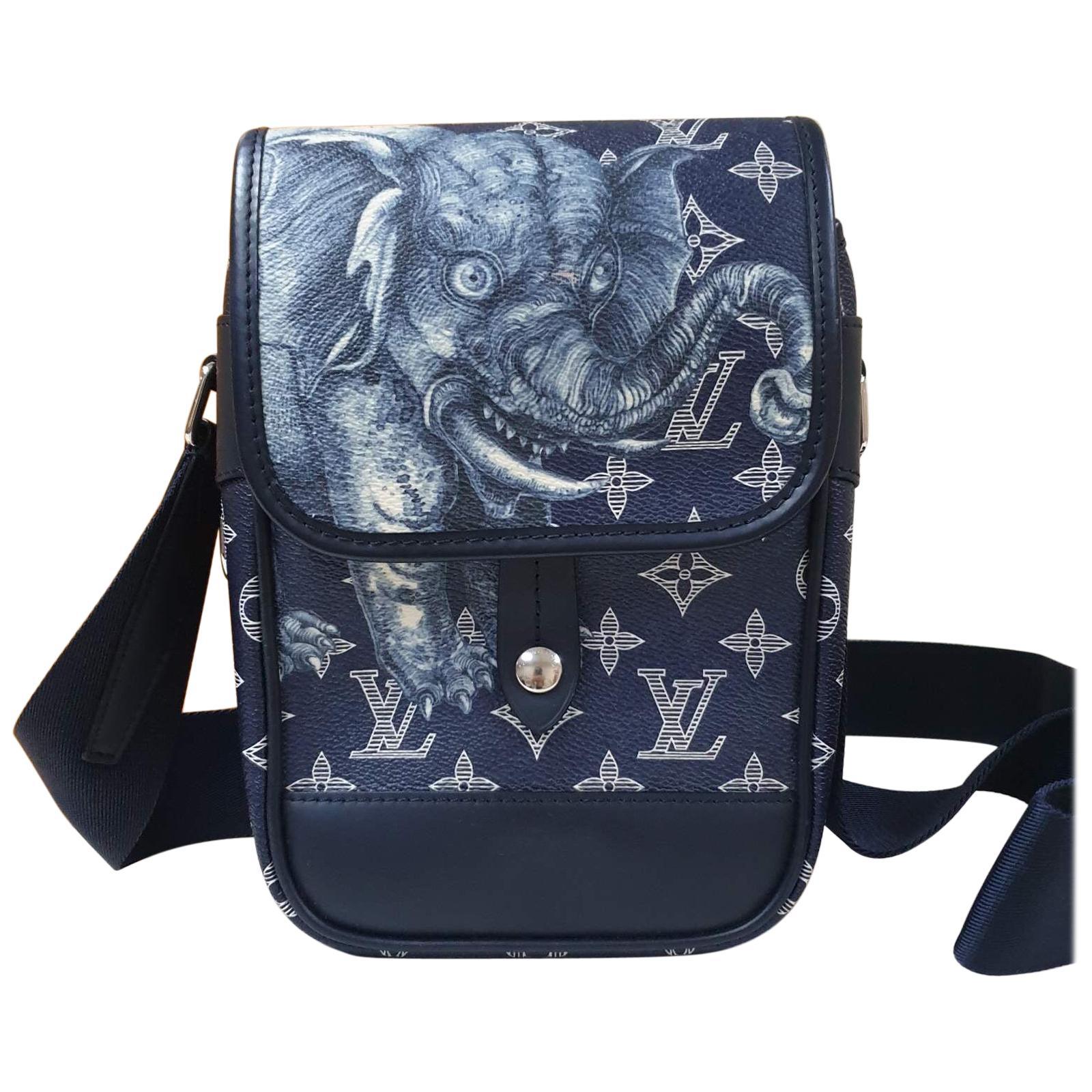 Louis Vuitton  Monogram Savanna Elephant Chapman Brothers Shoulder Bag