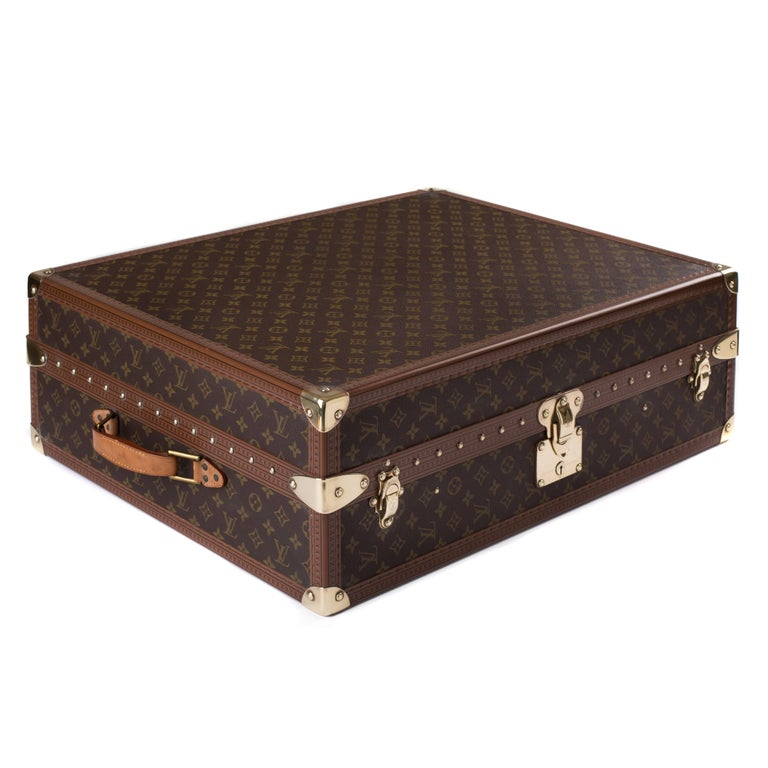 e15cc5688d5a Louis Vuitton monogram shoe case with brass hardware. This functional case  has space to hold