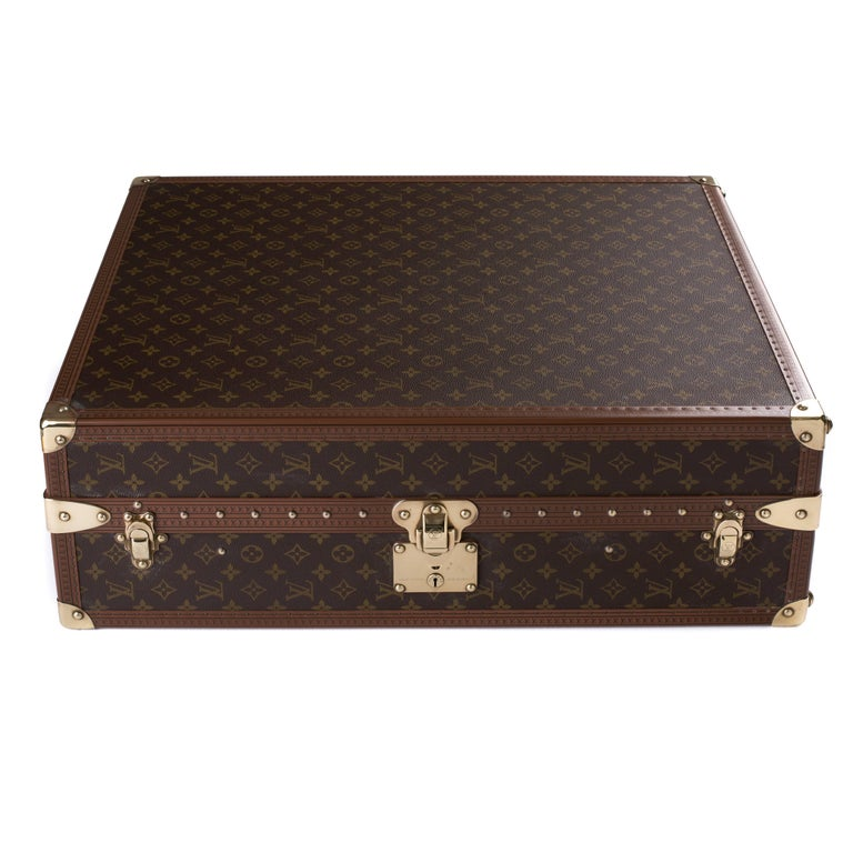 d0f729269e81 Louis Vuitton Monogram Shoe Case For Sale. Louis Vuitton monogram shoe case  with brass hardware. This functional case has space to hold