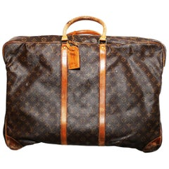Louis Vuitton Monogram Sirius Suitcase 65cm Luggage Weekender Travel Bag 90´s
