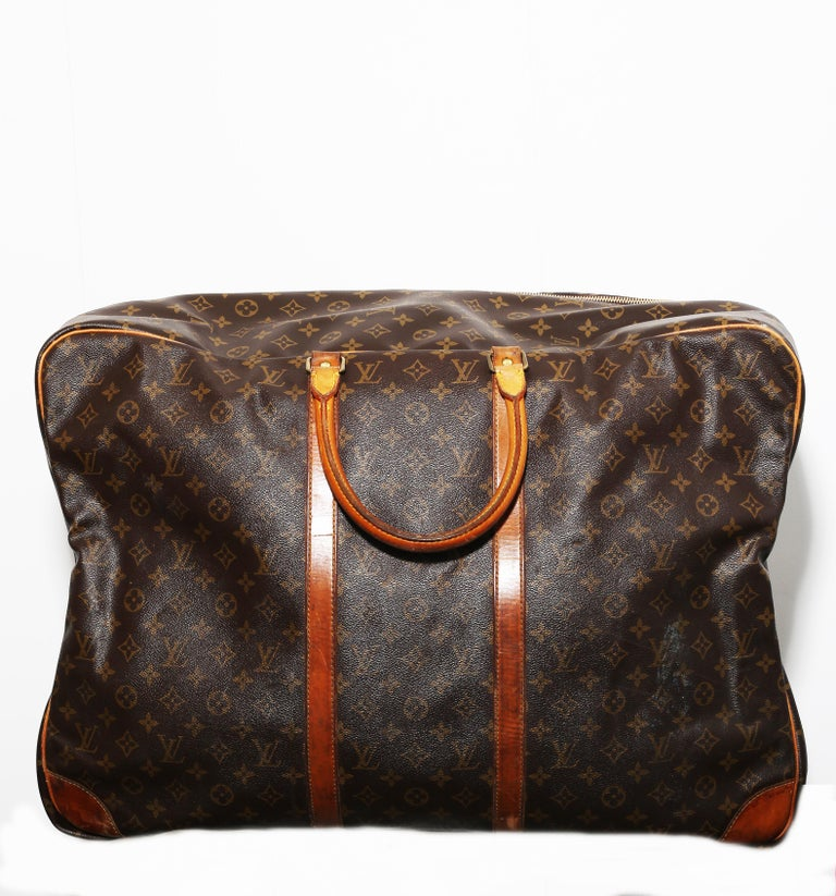 Louis Vuitton Monogram Sirius Suitcase 70cm Luggage Weekender Travel Bag 80s In Good Condition For Sale In  Bilbao, ES