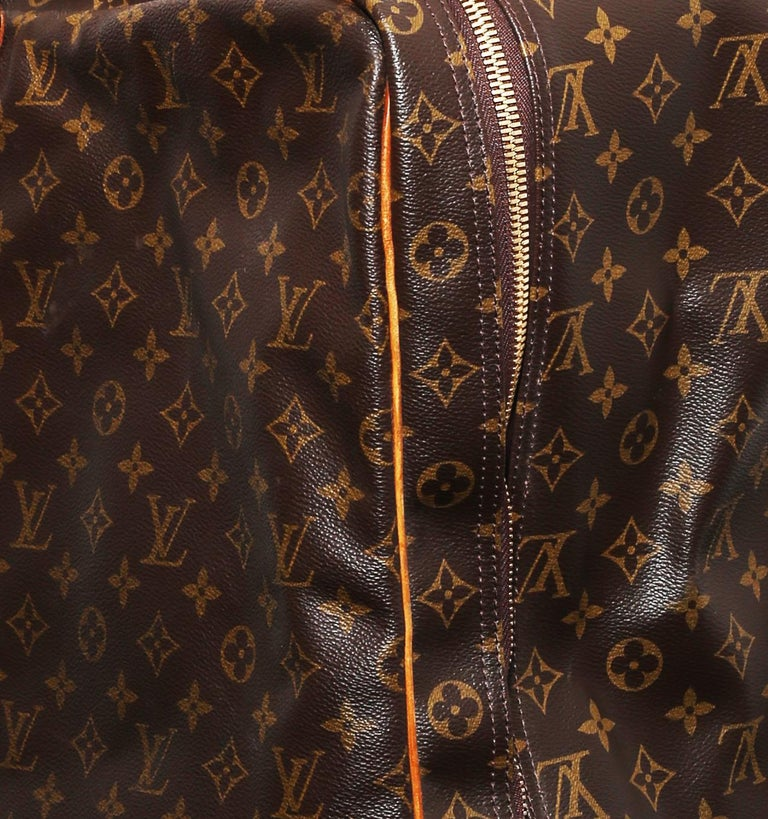 Louis Vuitton Monogram Sirius Suitcase 70cm Luggage Weekender Travel Bag 80s For Sale 2