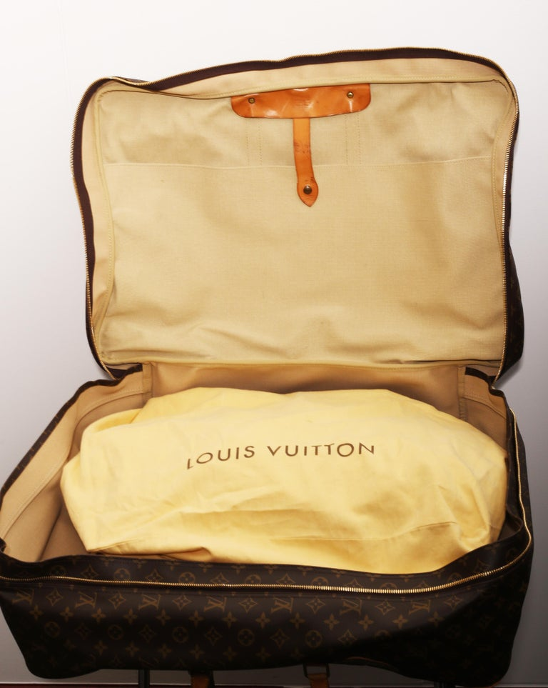 Louis Vuitton Monogram Sirius Suitcase 70cm Luggage Weekender Travel Bag 80s For Sale 5