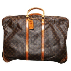 Louis Vuitton Monogram Sirius Suitcase 70cm Luggage Weekender Travel Bag 80s