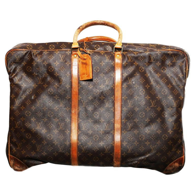 Louis Vuitton Monogram Sirius Suitcase 70cm Luggage Weekender Travel Bag 80s For Sale