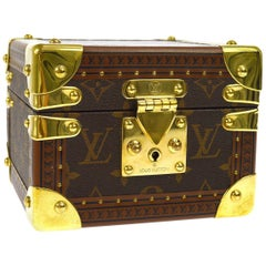 Louis Vuitton Monogram Small Travel Men's Women's Jewelry Watch Case Trunk Bag