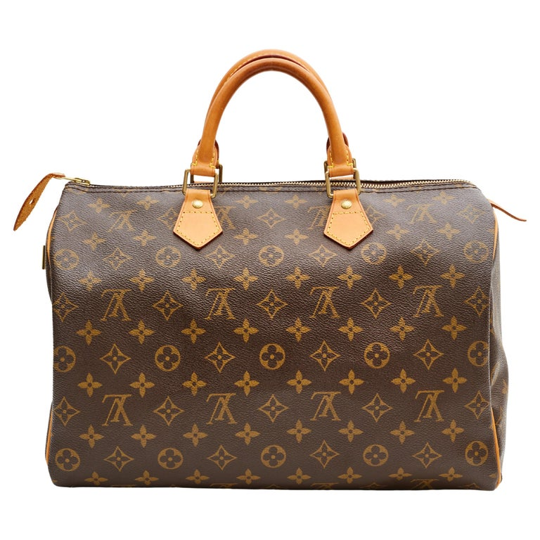Louis Vuitton Monogram Speedy 35 Handbag (2002) For Sale