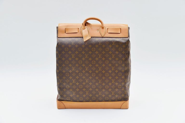 Brown Louis Vuitton Monogram Steamer Bag 45  For Sale