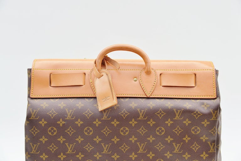 Louis Vuitton Monogram Steamer Bag 45  In Good Condition For Sale In Roosendaal, NL