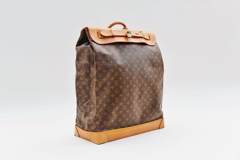 Women's or Men's Louis Vuitton Monogram Steamer Bag 45  For Sale