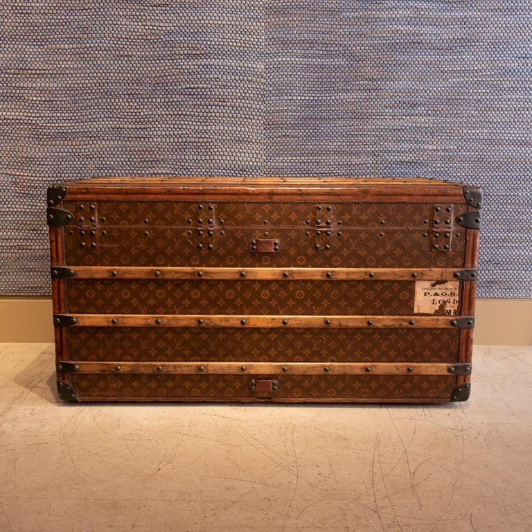 French Louis Vuitton Monogram Steamer Trunk, circa 1905 For Sale