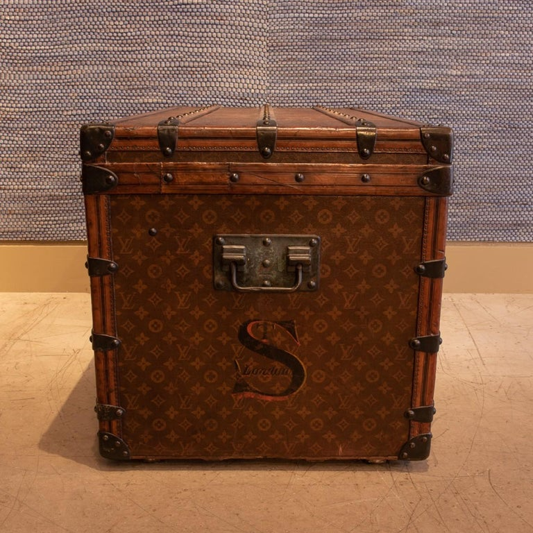 Early 20th Century Louis Vuitton Monogram Steamer Trunk, circa 1905 For Sale