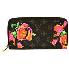 LOUIS VUITTON Monogram Stephen Sprouse Roses Zippy Wallet