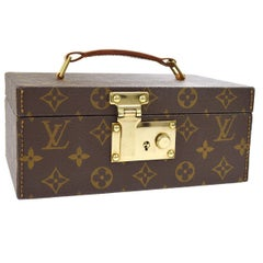 Louis Vuitton Monogram Top Handle Men's Jewelry Travel Storage Case With Keys