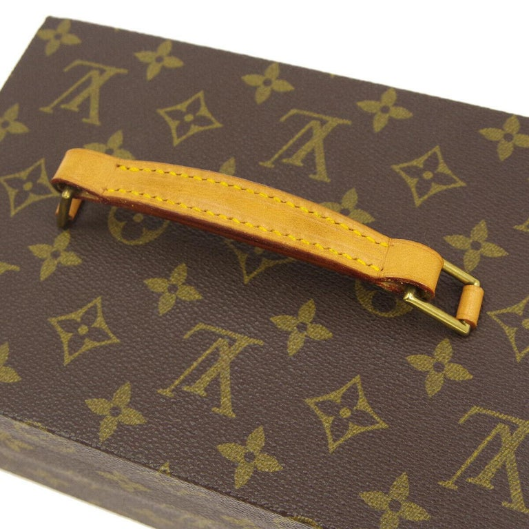 Louis Vuitton Monogram Top Handle Men's Women's Jewelry Travel Storage Case Bag In Good Condition For Sale In Chicago, IL