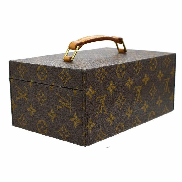 Women's or Men's Louis Vuitton Monogram Top Handle Men's Women's Jewelry Travel Storage Case Bag For Sale