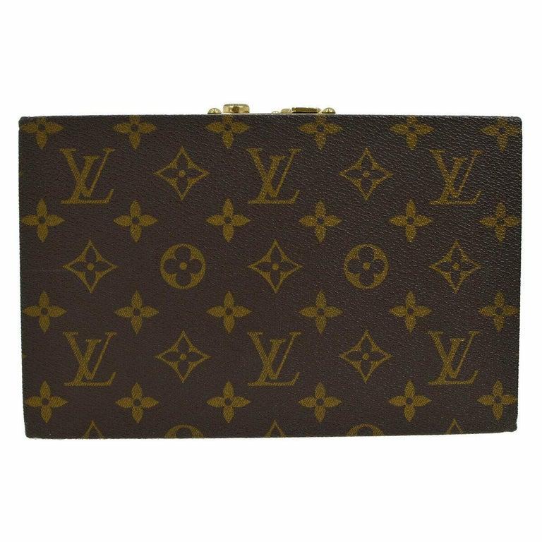 Louis Vuitton Monogram Top Handle Men's Women's Jewelry Travel Storage Case Bag For Sale 1