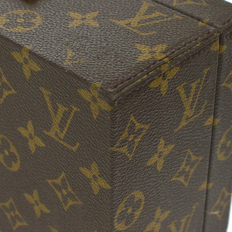 Louis Vuitton Monogram Top Handle Men's Women's Jewelry Travel Storage Case Bag For Sale 2