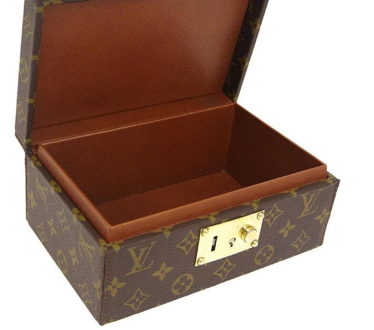 Louis Vuitton Monogram Top Handle Men's Women's Jewelry Travel Storage Case Bag For Sale 3