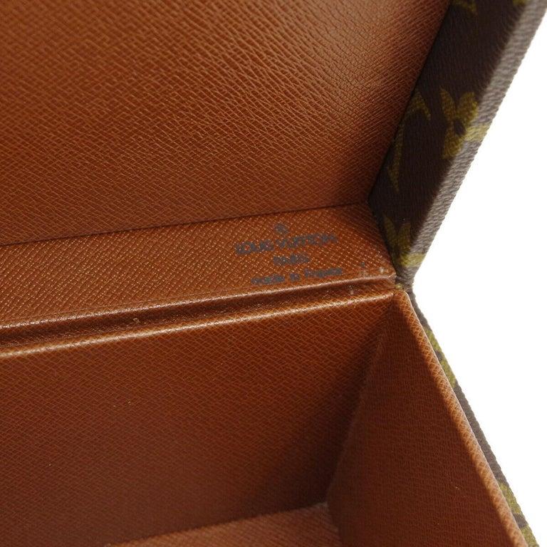 Louis Vuitton Monogram Top Handle Men's Women's Jewelry Travel Storage Case Bag For Sale 4