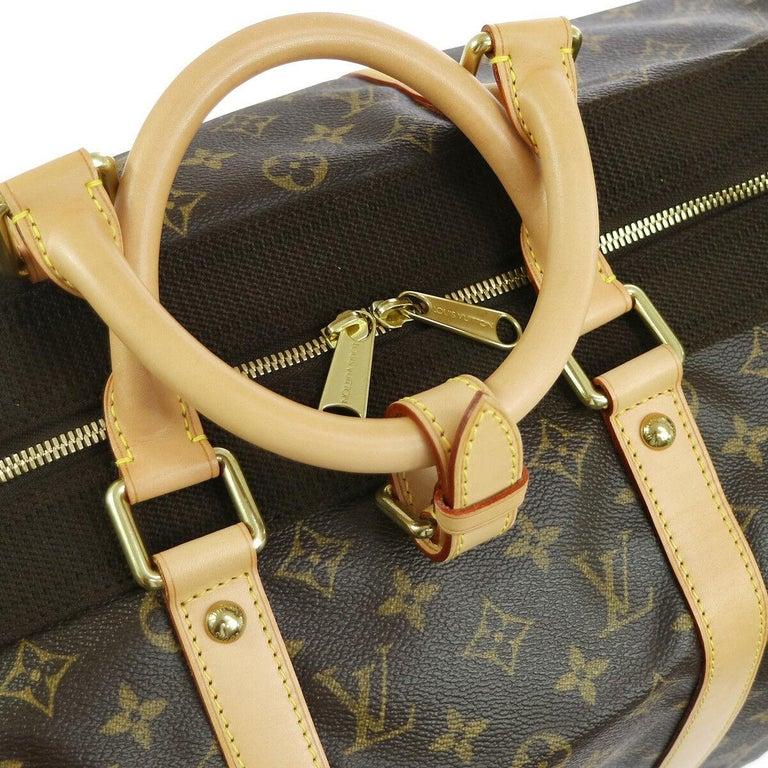 Women's or Men's Louis Vuitton Monogram Travel Men's Women's Top Handle Weekender Duffle Bag For Sale